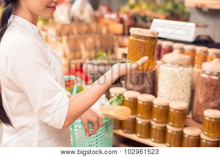 Homemade Jam In Supermarket
