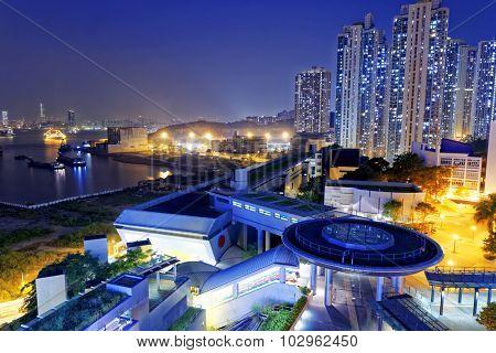 hong kong public estate at night, Yau Tong