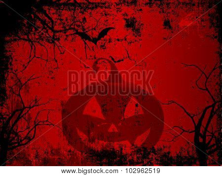 Spooky Halloween background with a grunge effect