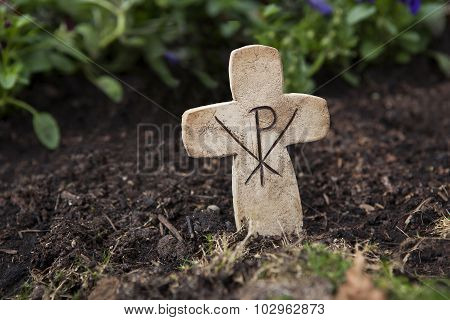 Crucifix At The Grave