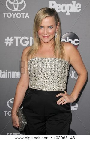 LOS ANGELES - SEP 26:  Jessica Capshaw_ at the TGIT 2015 Premiere Event Red Carpet at the Gracias Madre on September 26, 2015 in Los Angeles, CA