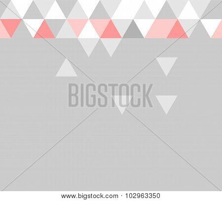 Tile vector pattern with flat surface grey, pink and white triangle background