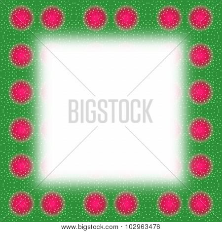 Abstract red green frame