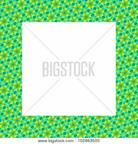 Green blue decorative geometric square frame