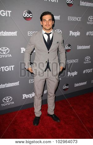 LOS ANGELES - SEP 26:  Giacomo Gianniotti at the TGIT 2015 Premiere Event Red Carpet at the Gracias Madre on September 26, 2015 in Los Angeles, CA