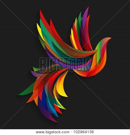 Abstract colorful bird.