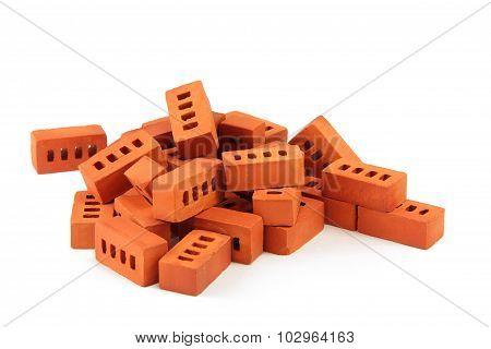 toy bricks isolated on white