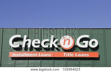 Check N Go Sign On A Storefront