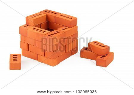 construction toy brick house