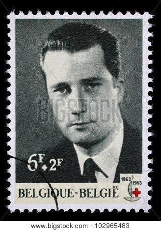 BELGIUM - CIRCA 1963: A stamp printed in Belgium is dedicated to the 100th anniversary of the International Red Cross, circa 1963