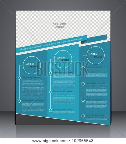 Vector Business Brochure Flyer Design,  Layout Cover Design  In Blue  Colors