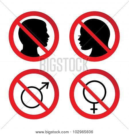 No Man and Woman  Sign