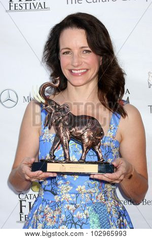 LOS ANGELES - SEP 27:  Kristin Davis at the Catalina Film Festival Conservation Award at the Lancer Auditorium on September 27, 2015 in Avalon, CA