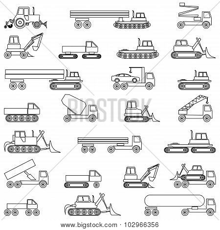 Various special vehicles for work.
