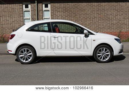 White Seat Ibiza Car