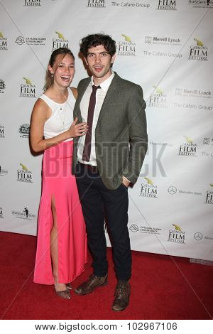 LOS ANGELES - SEP 25:  Bailey Noble, Carter Jenkins at the Catalina Film Festival Friday Evening Gala at the Avalon Theater on September 25, 2015 in Avalon, CA
