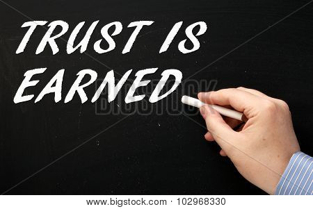 Trust Is Earned