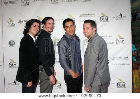 LOS ANGELES - SEP 25:  Michael J Marasco, Eric Jordan Baker, Keahu Kahuanui, Quinn P Smith at the Catalina Film Festival Friday Evening Gala at the Avalon Theater on September 25, 2015 in Avalon, CA