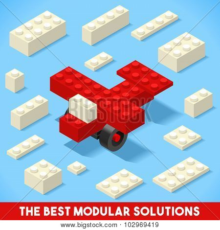 Toy Block Plane Games Isometric