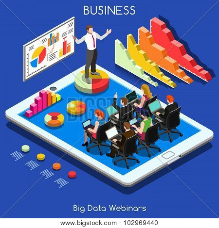Webinars 01 Business Isometric