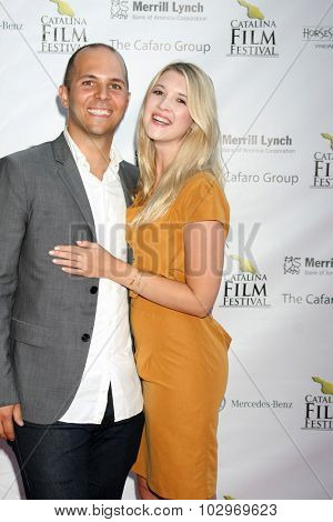 LOS ANGELES - SEP 25:  John Paul Rothie, Hilary Harpster at the Catalina Film Festival Friday Evening Gala at the Avalon Theater on September 25, 2015 in Avalon, CA