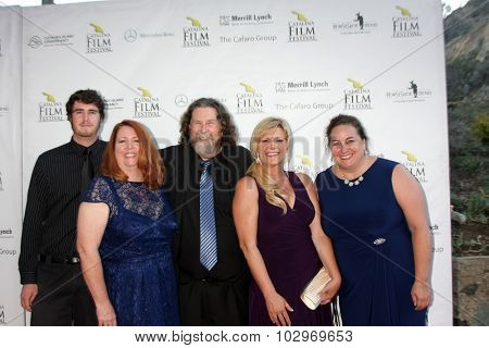 LOS ANGELES - SEP 25:  Dillion Sisson, Margina Sisson, Gary Sisson, friends at the Catalina Film Festival Friday Evening Gala at the Avalon Theater on September 25, 2015 in Avalon, CA