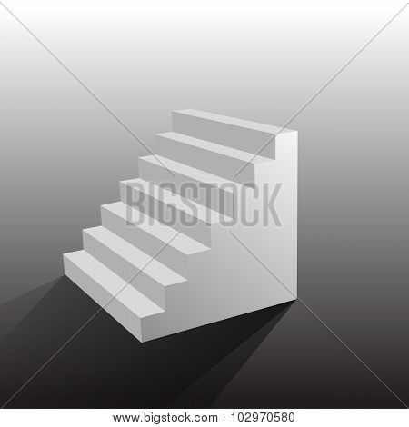 Stairs Isolated On White Background. Vector Illustration Eps 10