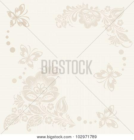 Vector floral rustic wedding cards, beautiful design.