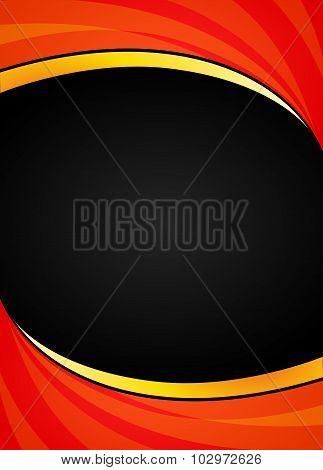 Orange And Black Background