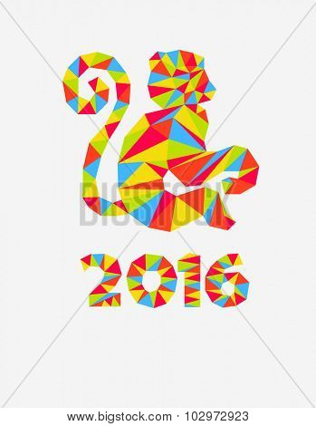 2016 Happy New Year greeting card.