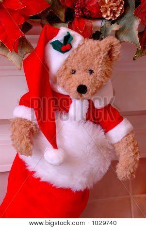 Santa Bear Christmas Stocking