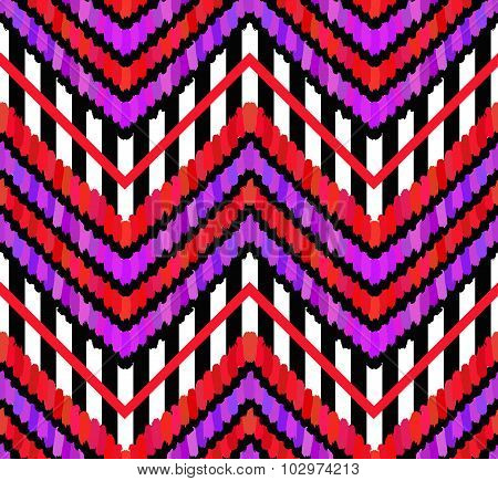 Vector Brush Strokes and Stripes Pattern