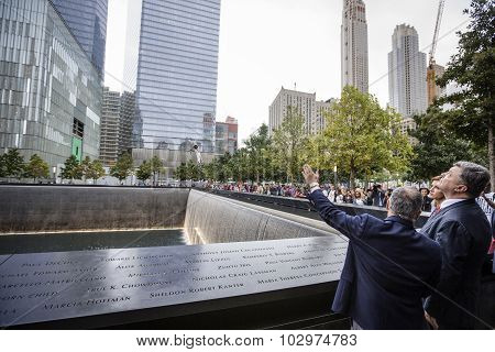 President Petro Poroshenko At World Trade Center Ground Zero Memorial