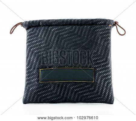 Zigzag Pattern On Drawstring Bag On White Background