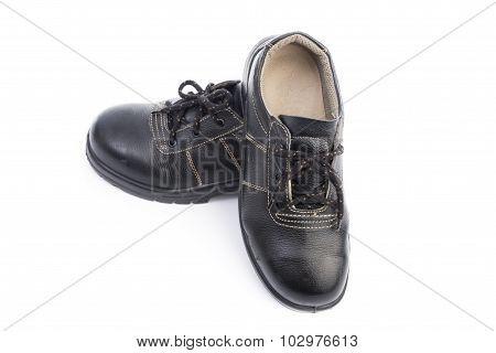 Black Safety Shoe Isolated
