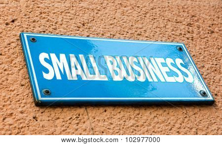 Small Business blue sign