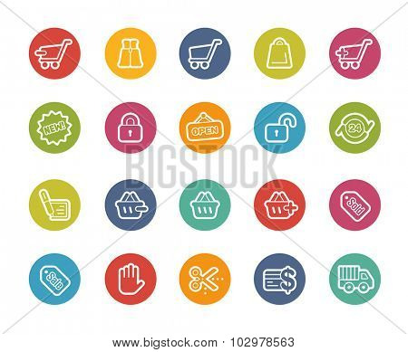 Shopping Icons // Printemps Series