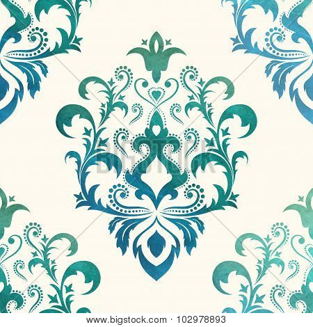 Watercolor seamless wallpapers in the style of Baroque . Can be used for backgrounds and page fill w