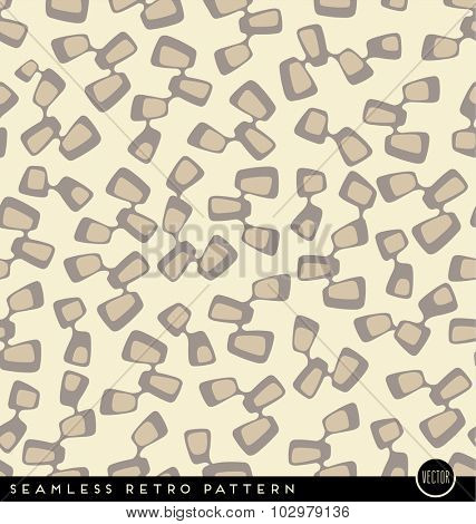 seamless vintage style pattern with connected rectangular shapes