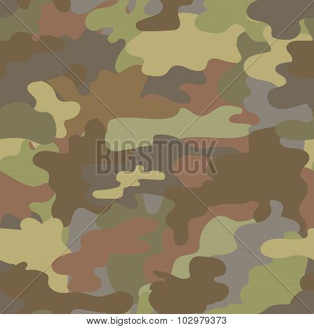 Seamless camouflage military pattern brown