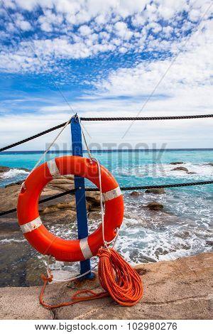 Lifebuoy At The Beach