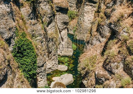 Tajo De Ronda Is A Gorge Carved By The Guadalevin River. Ronda,