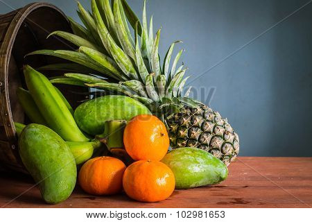 Fresh Fruit From The Basket