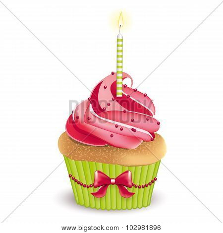 Birthday Cute Cupcake