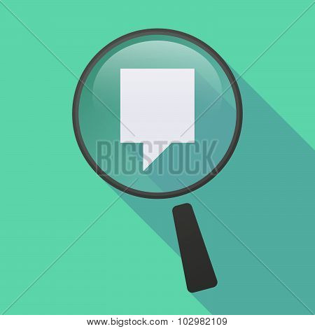 Long Shadow Magnifier Icon With A Tooltip
