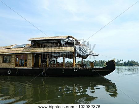 Pleasure river boat in southern India