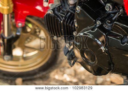 Black Motorcycle Engine