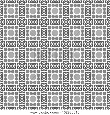 Gray And White Polka Dot Square Abstract Design Tile Pattern Repeat Background