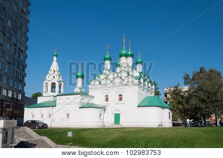 Moscow, Russia - 09.21.2015. Church Simeon at Povarskaya Street. Built in 1676
