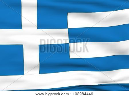 Image Of A Flag Of Greece